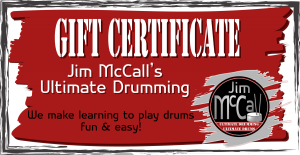 Ultimate Drummer Gift certificates
