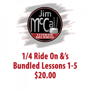 1/4 Ride On &'s Bundled Lessons 1-5