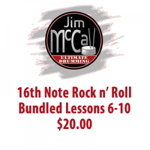 16th Note Rock n' Roll Bundled Lessons 1-5