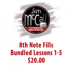 8th Note Fills Bundled Lessons 1-5