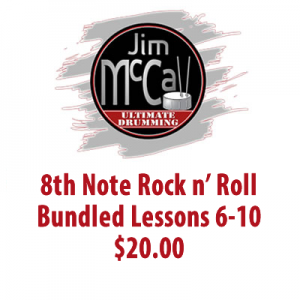 8th Note Rock n' Roll Bundled Lessons 6-10