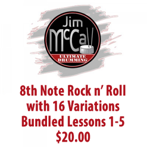 8th Note Rock n' Roll with 16 Variations Bundled Lessons 1-5