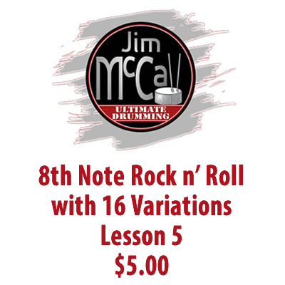 8th Note Rock n' Roll with 16 Variations Lesson 5