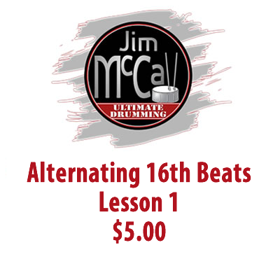 Alternating 16th Beats Lesson 1