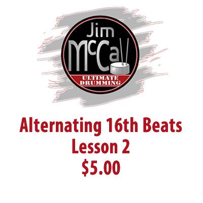 Alternating 16th Beats Lesson 2