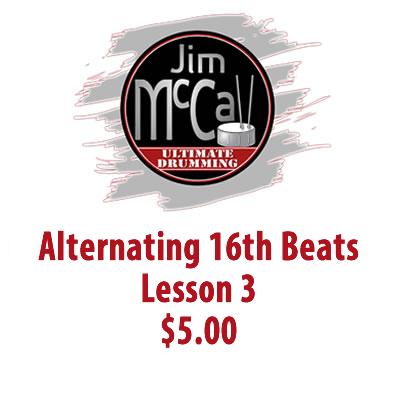 Alternating 16th Beats Lesson 3