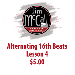 Alternating 16th Beats Lesson 4