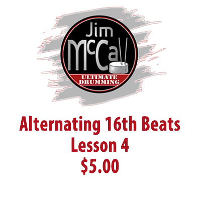 Alternating 16th Beats Lesson 4