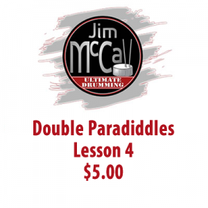 Double Paradiddles Lesson 4