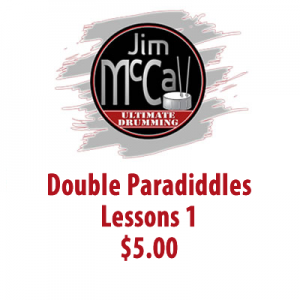 Double Paradiddles Lessons 1