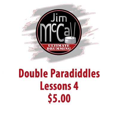 Double Paradiddles Lessons 4