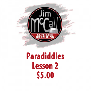 Paradiddles Lesson 2