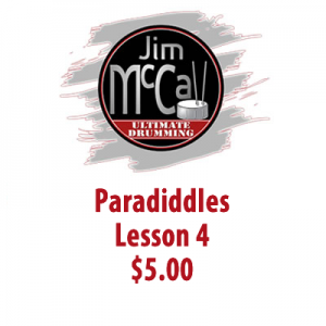 Paradiddles Lesson 4