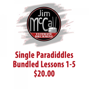 Single Paradiddles Bundled Lessons 1-5